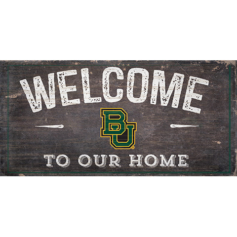 Baylor  Welcome Distressed 6 x 12