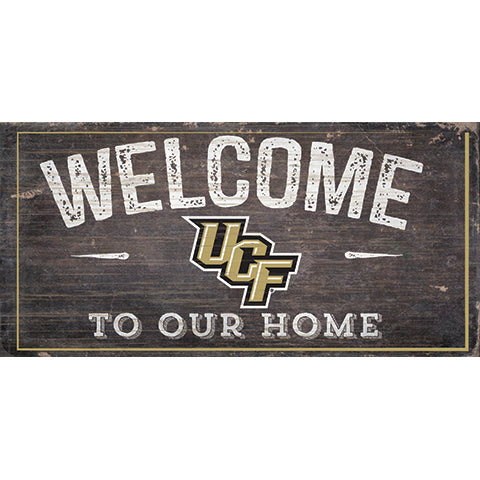 Central Florida (UCF) Welcome Distressed 6 x 12