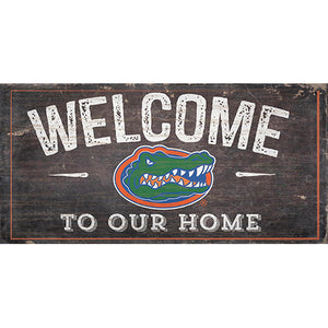 University of Florida Welcome Distressed 6 x 12