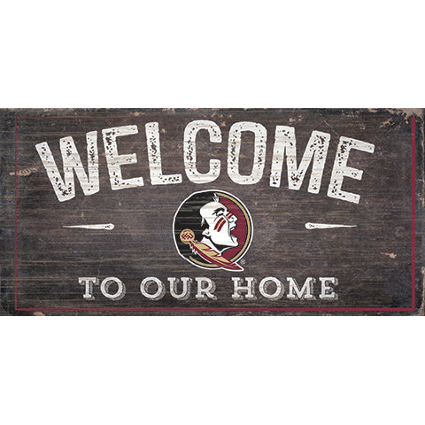 Florida State University Welcome Distressed 6 x 12