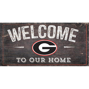 University of Georgia Welcome Distressed 6 x 12
