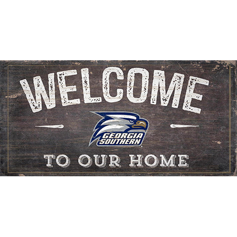 Georgia Southern Welcome Distressed 6 x 12