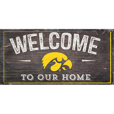 Iowa Welcome Distressed 6 x 12
