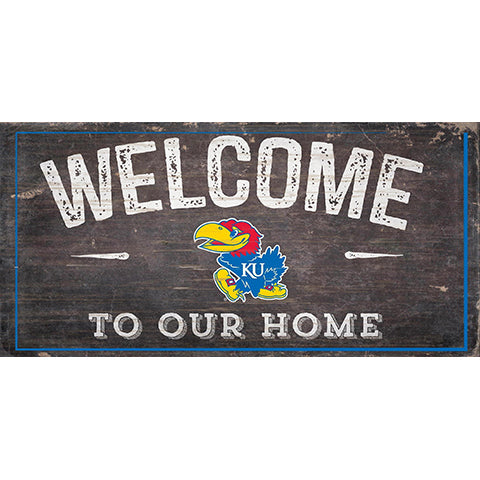 Kansas Welcome Distressed 6 x 12