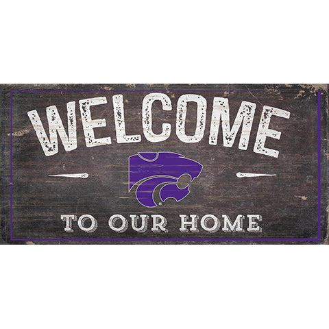 Kansas State Welcome Distressed 6 x 12
