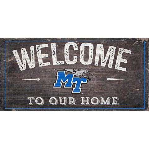 Middle Tennessee State Welcome Distressed 6 x 12