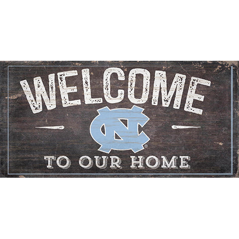 University of North Carolina Welcome Distressed 6 x 12