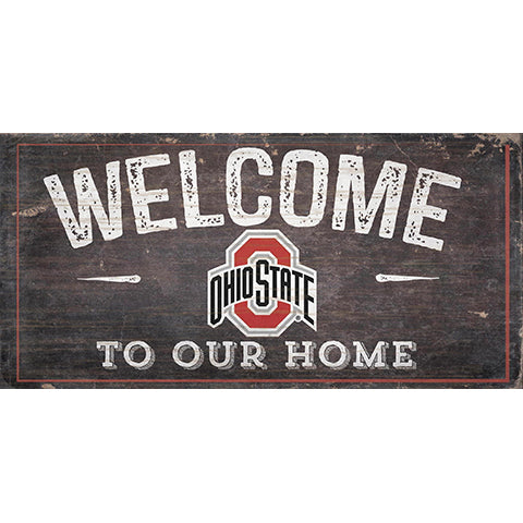 Ohio State University Welcome Distressed 6 x 12