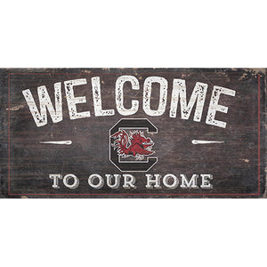 University of South Carolina Welcome Distressed 6 x 12