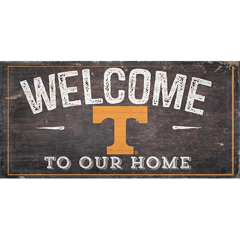 University of Tennessee Welcome Distressed 6 x 12