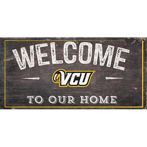 VCU Welcome Distressed 6 x 12