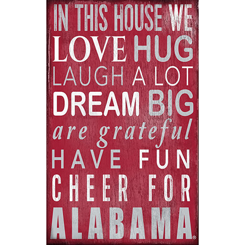 University of Alabama In This House Sign