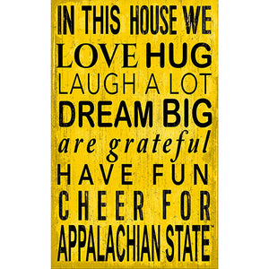 Appalachian State In This House Sign