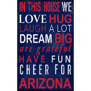 Arizona In This House Sign