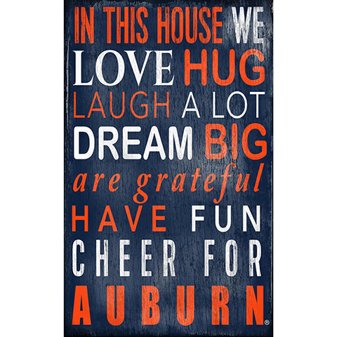 Auburn University In This House Sign