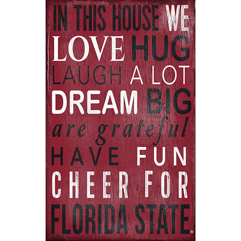 Florida State In This House Sign