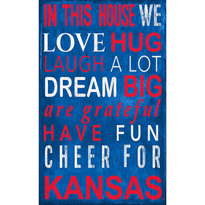 Kansas In This House Sign