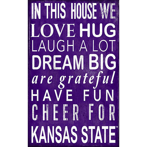 Kansas State In This House Sign