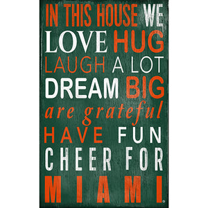 University of Miami In This House Sign