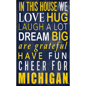 University of Michigan In This House Sign