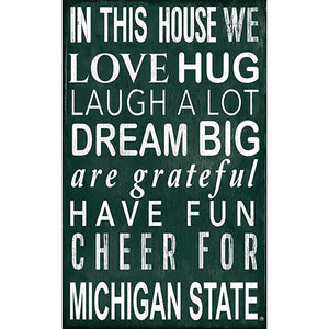 Michigan State In This House Sign