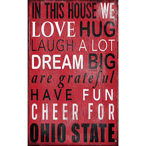 Ohio State University In This House Sign
