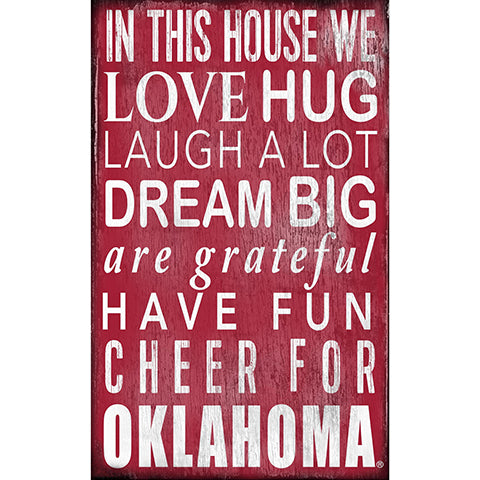 University of Oklahoma In This House Sign