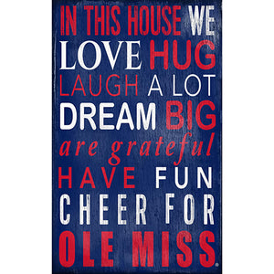 Ole Miss In This House Sign
