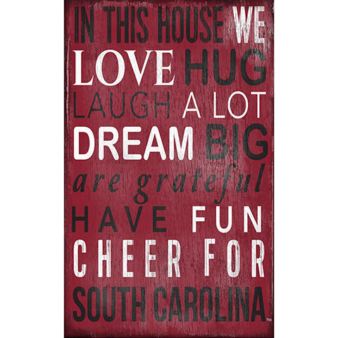 University of South Carolina In This House Sign