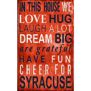 Syracuse In This House Sign