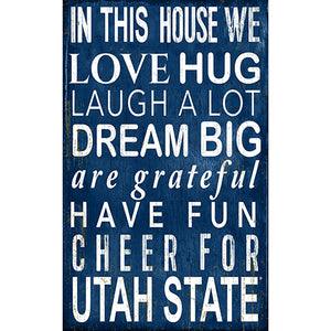 Utah State In This House Sign