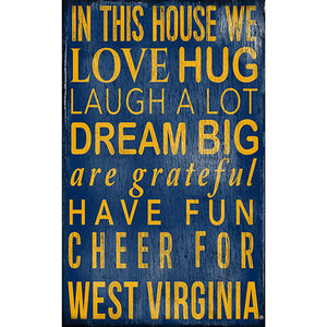 University of West Virginia In This House Sign