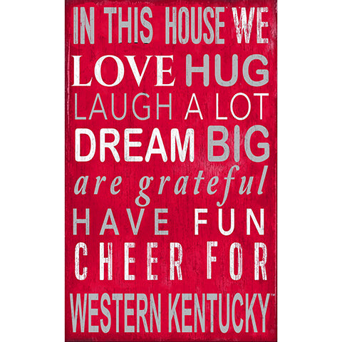 Western Kentucky In This House Sign