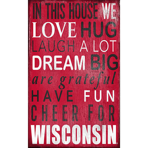 University of Wisconsin In This House Sign