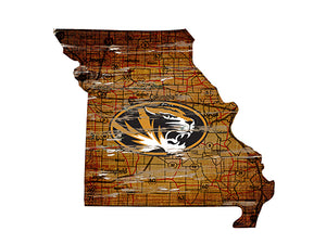 University of Missouri Distressed State with Logo