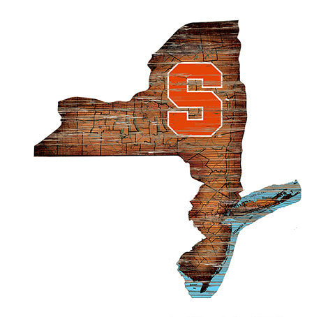 Syracuse Distressed State with Logo