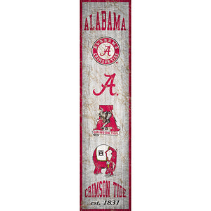 University of Alabama Heritage Banner Vertical 6x24