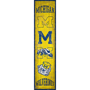 University of Michigan Heritage Banner Vertical 6x24