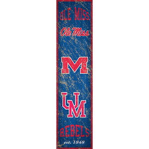 Ole Miss Heritage Banner Vertical 6x24