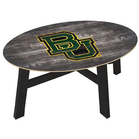 Baylor University Distressed Wood Coffee Table
