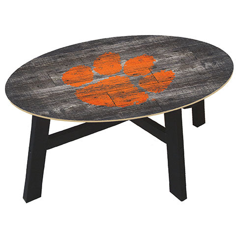 Clemson University Distressed Wood Coffee Table
