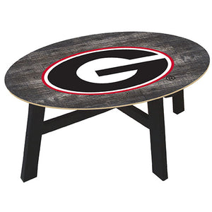 University of Georgia Distressed Wood Coffee Table