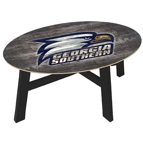 Georgia Southern Distressed Wood Coffee Table
