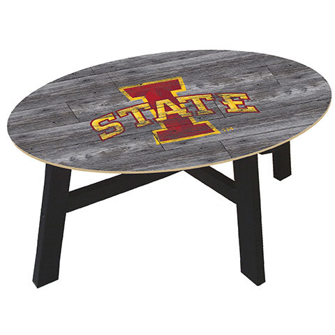 Iowa State Distressed Wood Coffee Table
