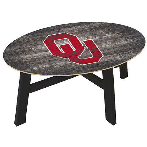 University of Oklahoma Distressed Wood Coffee Table