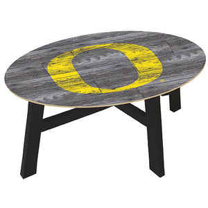 University of Oregon Distressed Wood Coffee Table