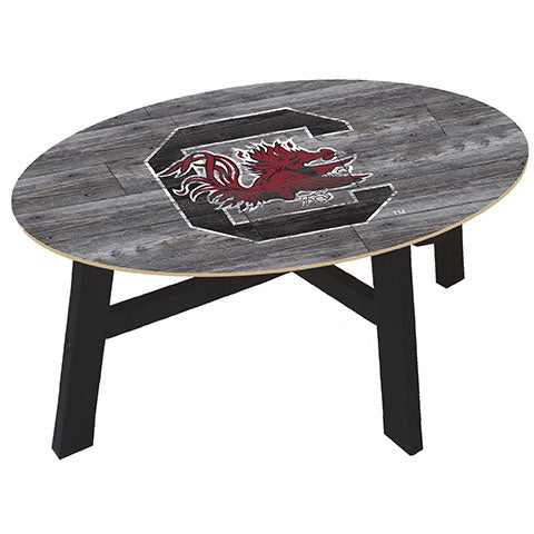 University of South Carolina Distressed Wood Coffee Table
