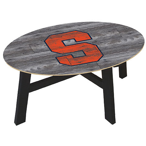 Syracuse University Distressed Wood Coffee Table
