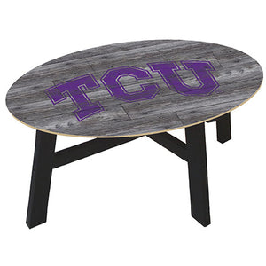 TCU Distressed Wood Coffee Table