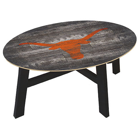 University of Texas Distressed Wood Coffee Table